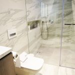 terrace house marble shower