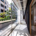 office walkway natural light