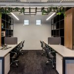 office work stations greenery